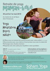 retraite de yoga maman bébé avril 2019 - activité postnatal maman bebe - repos pour maman - moment de famille - activités maman-bébé